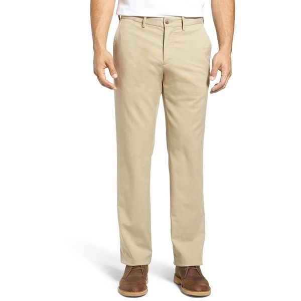 Men's Big & Tall Tommy Bahama Offshore Flat Front Pants (365 AED) ❤ liked on Polyvore featuring men's fashion, men's clothing, men's pants, men's dress pants, khaki, big tall mens pants, mens khaki dress pants, mens big and tall khaki pants, mens pants and mens khaki pants