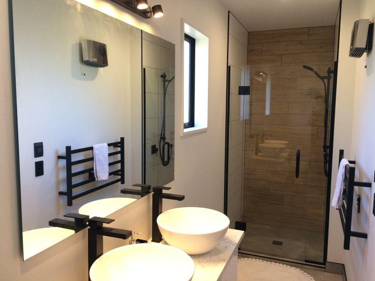 Falconer Rise, Jacks Point - Deavoll Construction | Queenstown Builders,  interior, design, architecture, bathroom, double vanity, shower
