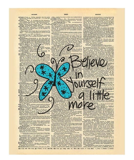 'Believe in Yourself' Dictionary Print | zulily