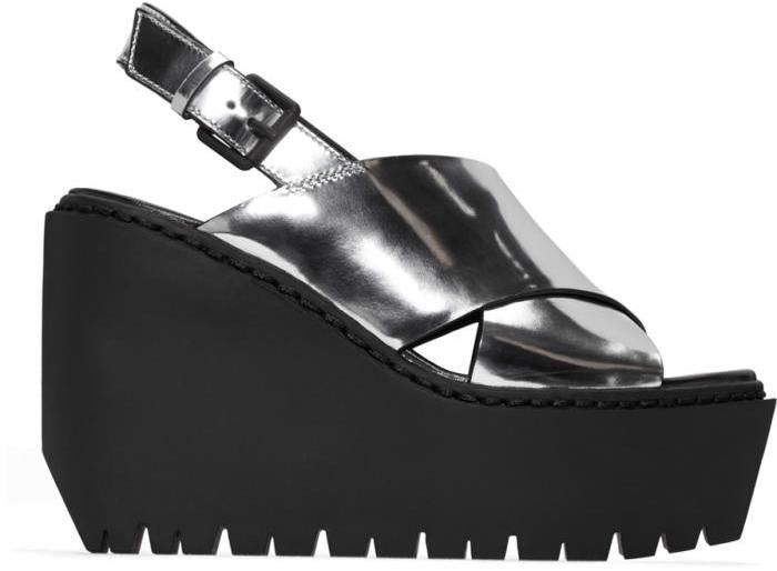 Opening Ceremony Silver Luna Wedge Sandals