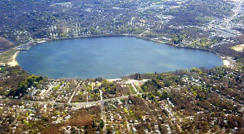Lake Ronkonkoma..............legend has it that Princess Ronkonkoma an Indian princess of the Setauket tribe, haunts these waters and she claims a boy's life every year to avenge her lover's death, an English woodcutter named Hugh Birdsall, who her father disapproved of!