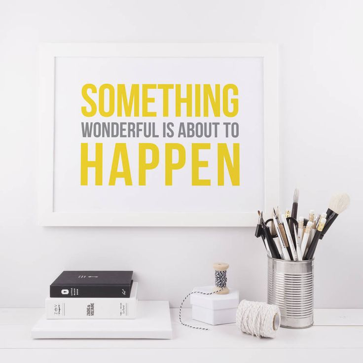 'Something Wonderful' Typography Print. Enjoy a bit of daily inspiration into your life with this bold typographic print.