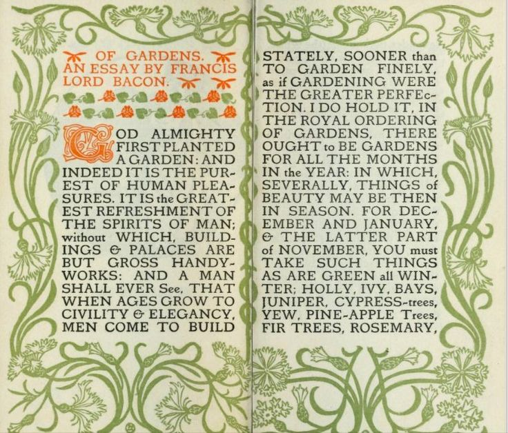 the best francis bacon essays ideas francis art nouveau edition of an essay on gardens by francis bacon b 1561
