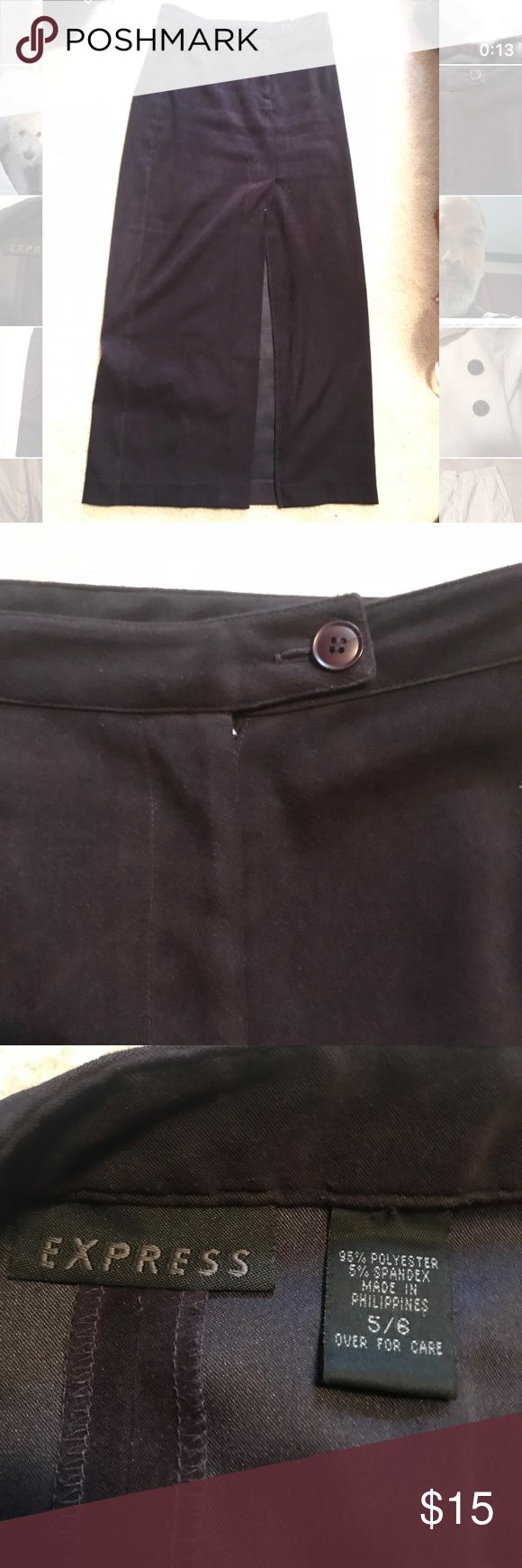 Women's Purple Express Purple Velvet Skirt Like new, no flaws. Purple maxi skirt with a slit on the side Express Skirts Maxi