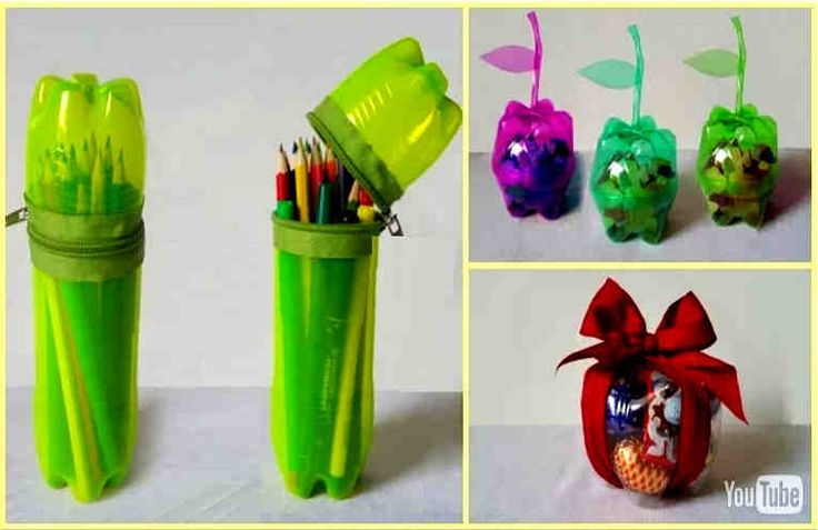 592 best images about plastic bottles on pinterest for Water bottle recycling ideas