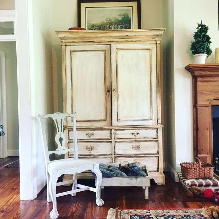 Beautiful Armoire Painted With CeCe Caldwellu0027s Simply White And Glazed With  Walnut Grove. Designed By