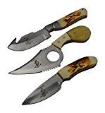 The Bone Collector 3 Hunting Knife Gift Set Fixed Blade Skinning Knives Full Tang Skinner Survival Knife