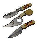The Bone Collector 3 Hunting Knife Gift Set Fixed Blade Skinning Knives Full Tang Skinner Survival Knife