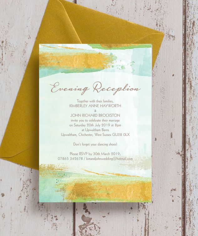 Beautiful Aqua Mint Green Watercolour Flowers Personalised Wedding Stationery Invitations Invites & Envelopes Party Supplies