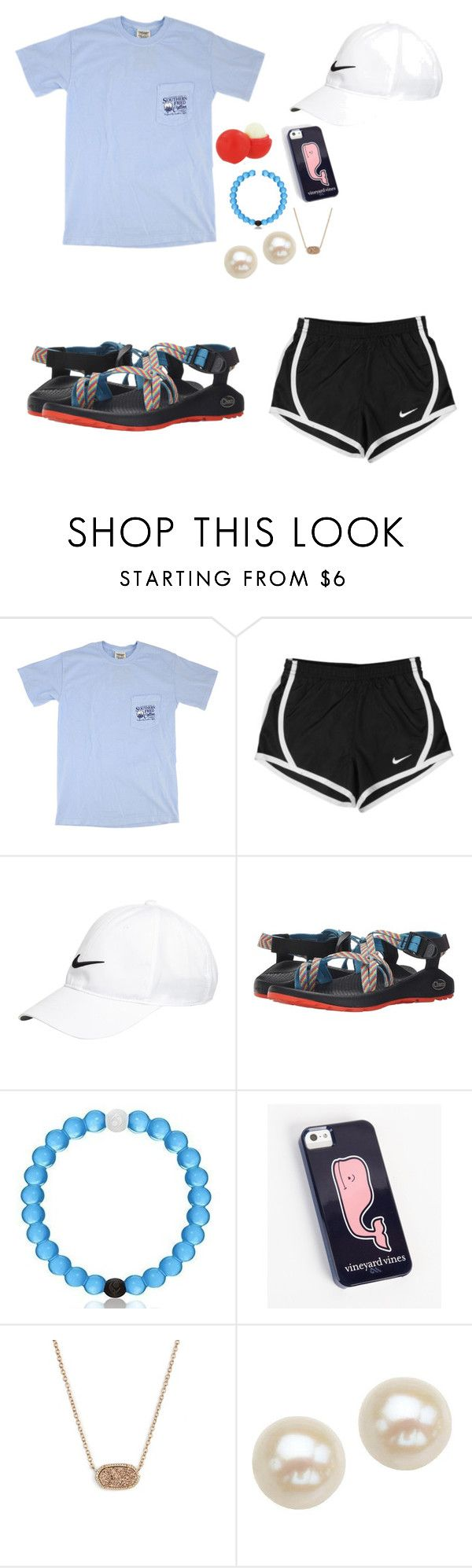"""""""Warm weather please come back so I can go golfing bc I haven't  done it in a while k? Thanks"""" by jen-joanna ❤ liked on Polyvore featuring NIKE, Chaco, Everest, Vineyard Vines, Eos, Kendra Scott and Honora"""