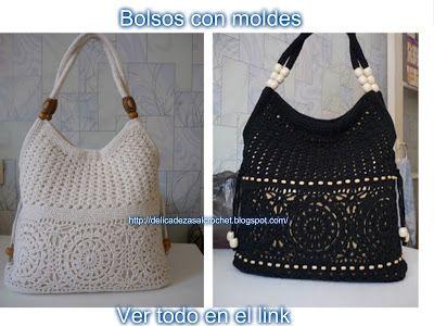 Delicadezas en crochet Gabriela: Bolsos