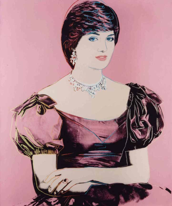 Andy Warhol The Princess of Wales, 1982 Signed and dated 'Andy Warhol 82' (on the overlap) Synthetic polymer and silkscreen inks on canvas 127 x 107 cm - 50 x 42.1 in.