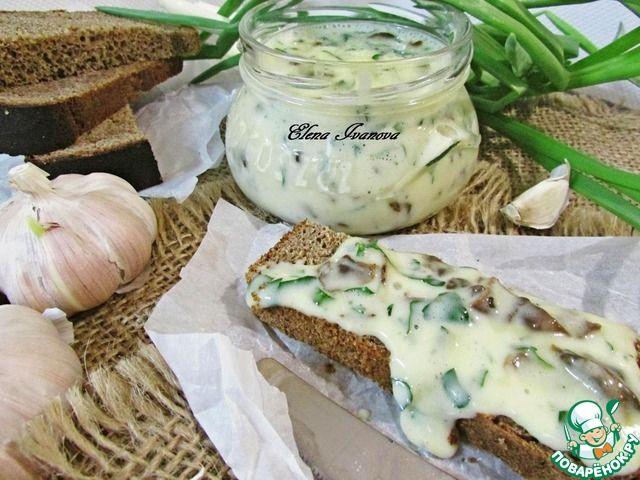 Плавленный сыр с грибами и зеленью ингредиенты