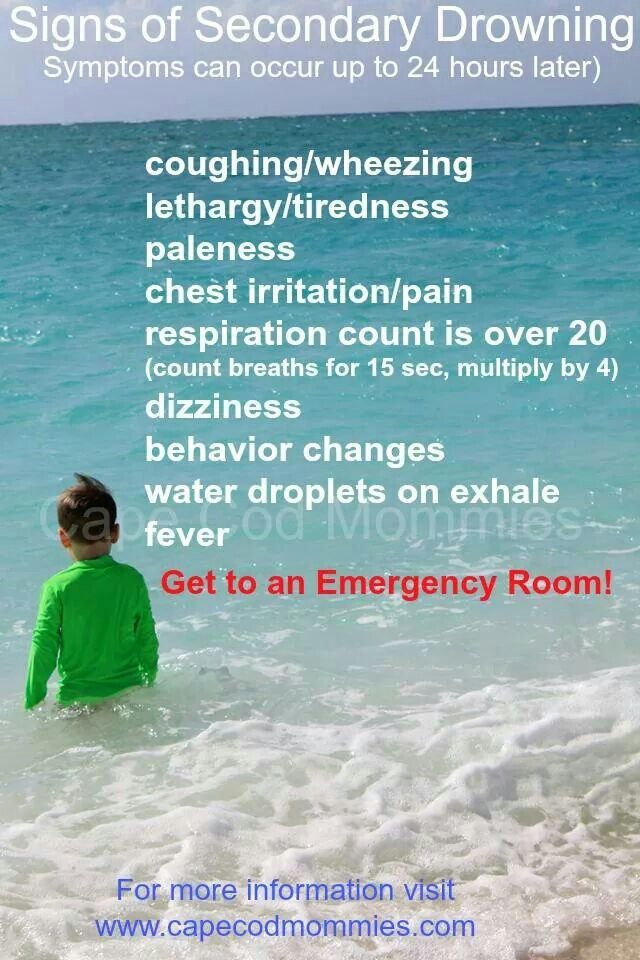 Secondary drowning - I had never heard about this before! Hopefully I will never have to check for these symptoms, but I'm pinning so that others know and to review it again when I have kids!