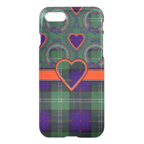 Norman clan Plaid Scottish kilt tartan iPhone 8/7 Case #tartan #protective #cases