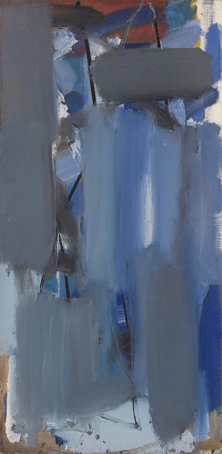 painting by Patrick Heron Blue Vertical, dated 1956