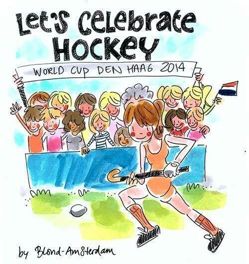 'Lets celebrate' Hockey dames wereld kampioen 2014 - Blond Amsterdam