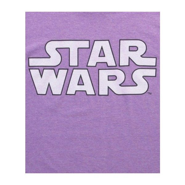Star Wars Logo Neon Purple Heather T-Shirt (6.52 CAD) ❤ liked on Polyvore featuring tops, t-shirts, heather t shirt, logo top, purple t shirt, heather tee and purple tee