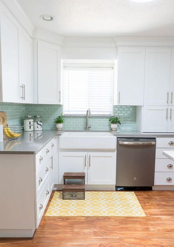 44 Gorgeous White Kitchen Backsplah Ideas   Unique kitchen ...