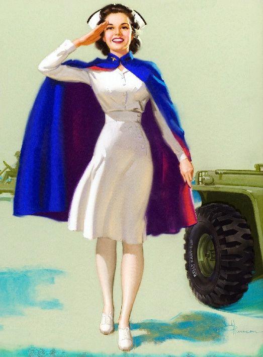 """Knute O. 'Munson - """"Red Cross Nurse"""" 1940's"""