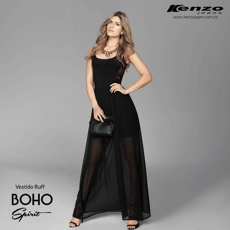 Un elegante vestido para finalizar la semana y comenzar con un #outfit espectacular tu fin de semana #BohoSpirit #KenzoJeans Conoce más en www.kenzojeans.com.co