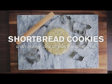 Shortbread Cookies with Black Sesame and Orange Zest--Let your kids help cut out fun animal shapes.