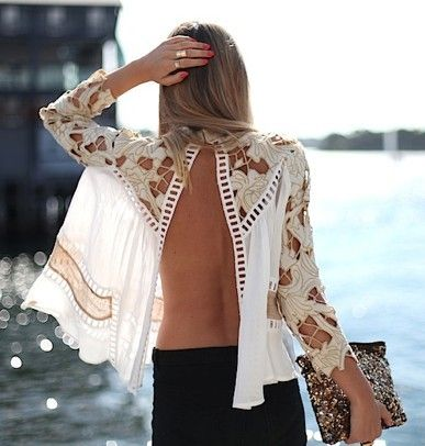 Flowy backless shirt