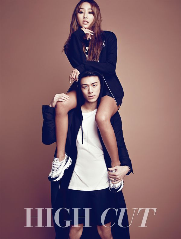Sistar Hyorin and Beenzino in High Cut Vol. 142 Look 2