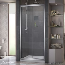 dreamline butterfly chrome walls not included wall acrylic floor 2piece alcove shower kit