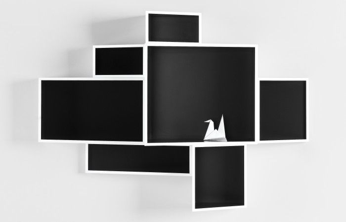 SheLLf: An exquisitely designed modern bookcase, with visually dynamic elements conceive by innovative designer, Ka-Lai Chan.