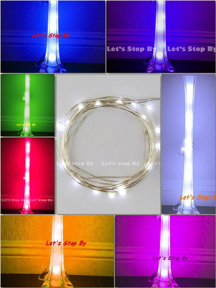 1 pc 10 led Wire Wedding Underwater Light for Eiffel Tower Vase Decor Floral  #letsstopby