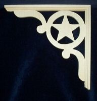 L G's Victorian Gingerbread Texas Star Fretwork Corner Trim Brackets 10"