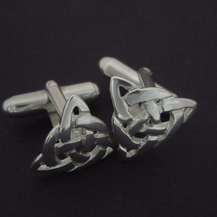 Handcrafted Trinity-Infinity Knot Celtic Cuff Links