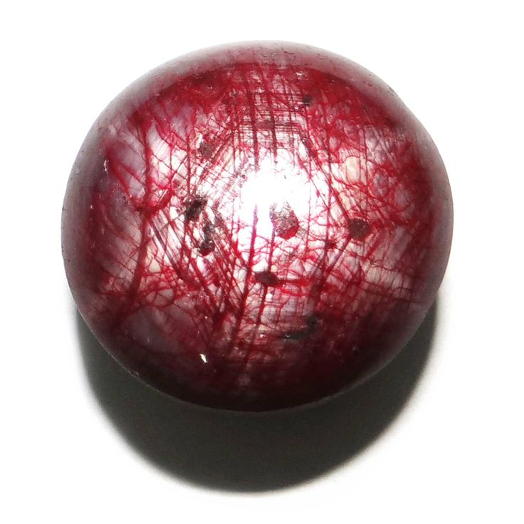 45Cts 100% AAA   Natural Red Star Ruby Stone Circle Untreated Africa Gemstone ..this is img