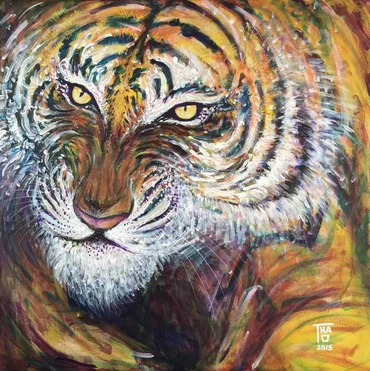 Tiger - Aug 2015 - Thao Acrylic - 60x60