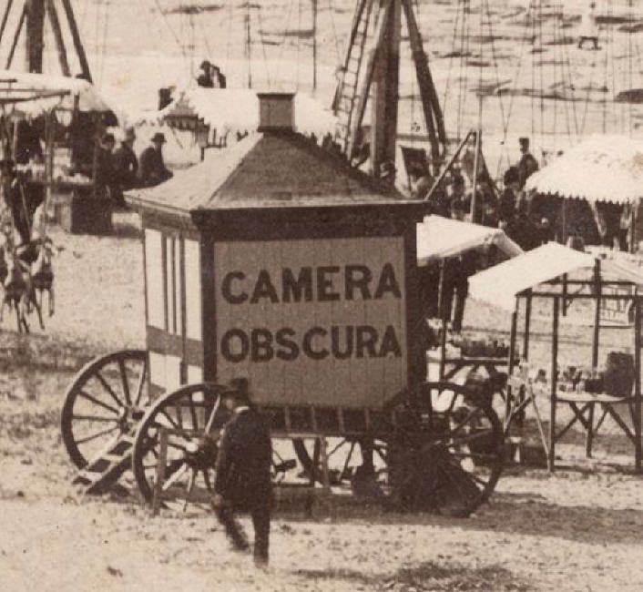 Camera Obscura as a traveling attraction.