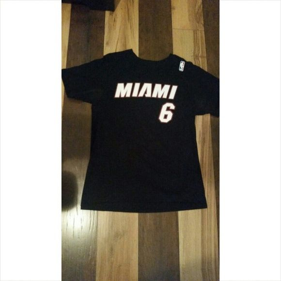 Miami Heat Shirt Miami Heat Shirt  LeBron James #6  Size: Medium Adidas Tops Tees - Short Sleeve