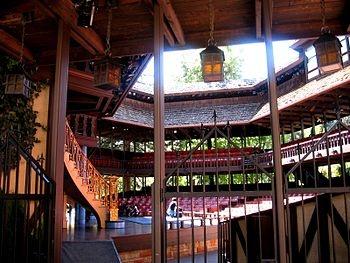 Southern Utah University  - Adams Memorial Theater, replica of the Globe Theatre and home of the Utah Shakespeare Festival
