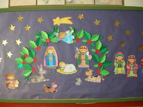 M s de 25 ideas fant sticas sobre periodico mural de junio - Mural navidad infantil ...