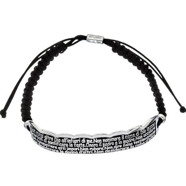 Bracciale Athena in argento smaltato nero