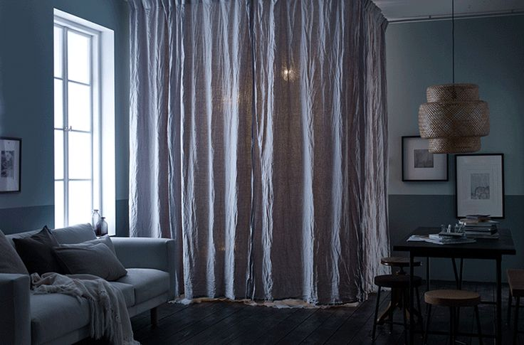 Pull out some curtains and surround your favourite armchair in a cosy cocoon, perfect for creating your own calm space after a hard day at work.