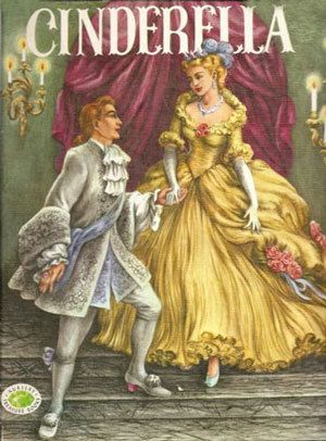 Book   vintage Cinderella book, Note the yellow / Gold dress