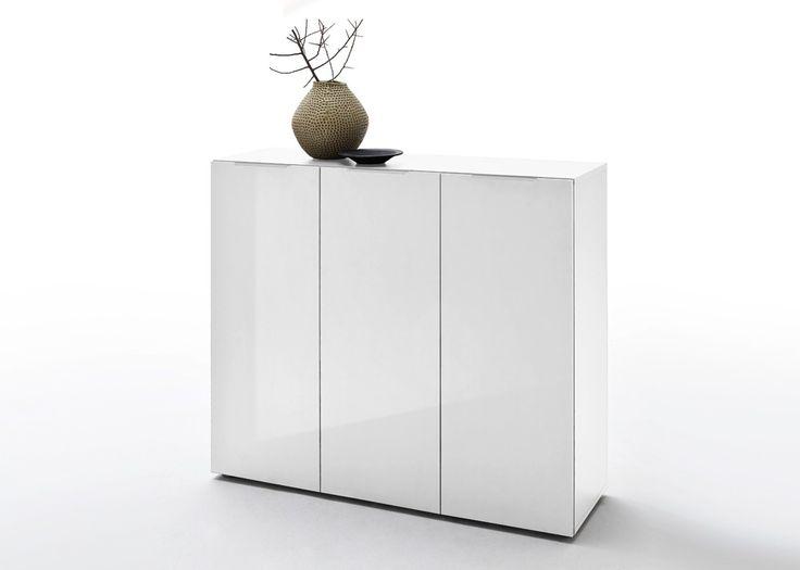 Kommode Vicenza Weiß Hochglanz 20900. Buy now at https://www.moebel-wohnbar.de/kommode-vicenza-weiss-hochglanz-20900.html