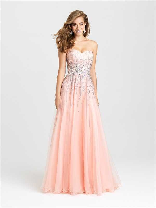 Long Beaded A Line Prom Gowns by Madison James 16-369 Discount