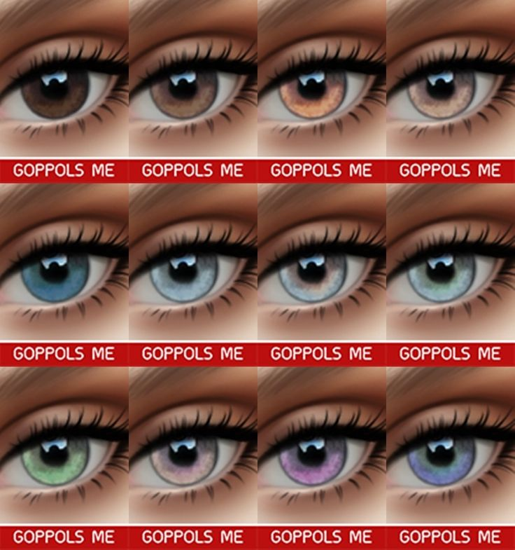 "goppolsme: "" GPME Eyes V3 12 Swatches DOWNLOAD Thanks for all CC creators ❤ Thank for support me ❤ Hope you like it . """