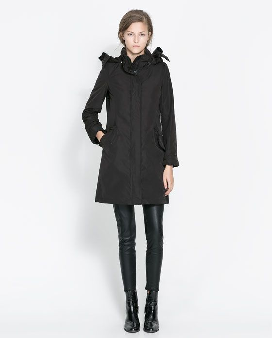 Image 1 of LONG QUILTED COAT from Zara