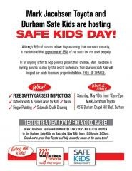 Mark Jacobson Toyota and Durham Safe Kids will host Child Seat Kids Day!
