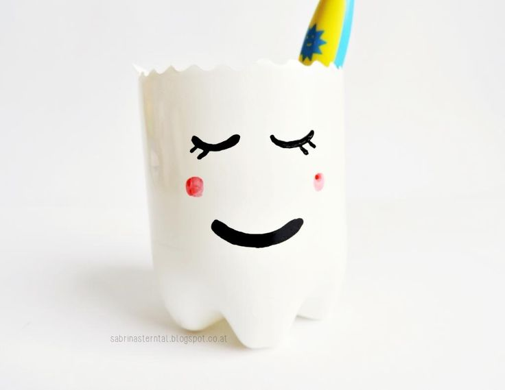 diy tooth fairy - tooth mug | DIY Zahnputzbecher