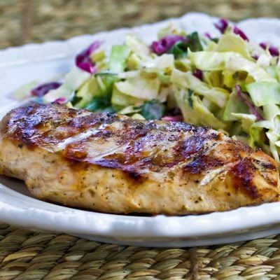 Very Greek Grilled Chicken from KalynsKitchen.com -- works in a stovetop grill pan or under the broiler, too.