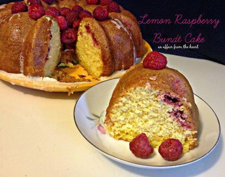 Lemon Raspberry Bundt Cake by An Affair from the Heart